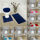 Kyпить BATHROOM SET RUG CONTOUR MAT TOILET LID COVER SOLID EMBROIDERY BATHMATS #5 3pc  на еВаy.соm