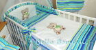 3p BABY BEDDING SET/BUMPER/PILLOWCASE/DUVETCover to fit CotorCot Bed 100% Cotton