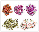 50x Hot Sale Mixed Color Printing Pattern Acrylic Bead Fit Europ Charms 14mm L