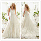 Spaghetti straps lace Bridal Gown Wedding Dress custom plus Size 2 4 6 8 10 12++