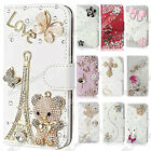 New Magnetic Flip Cover Bling Stand Wallet PU Leather Case For Sony Xperia