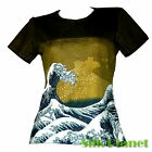 JAPANESE Hokusai Great Wave Kanagawa TSUNAMI T SHIRT TOP ASIAN ART PRINT JAPAN