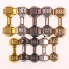 Solid Metal Dumbbell Bracelet Necklace Connector Spacer Charm Beads Silver Gold