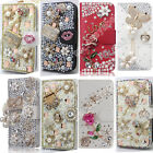 Luxury PU Leather Bling Crystal Diamond Rhinestone Case Cover For Samsung Phones
