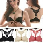 Pop Sexy Women Bra Front Closure Lace Racer Back Push Up Bras Underwear Lingerie