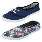 LADIES UNBRANDED LACE UP CANVAS SHOES (2 COLOURS) STYLE: F8792