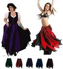 RENAISSANCE COSTUME MEDIEVAL DRESS-UP BELLYDANCE FAIRY TRIBAL COTTON PETAL SKIRT
