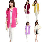 Womens Ladies Long Sleeve Knitted Sweater Slim Jacket Long Coat Cardigan Jumper