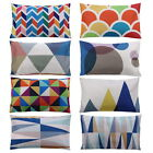 Home Decor Cotton Linen Pillow Case Sofa Waist Throw Cushion Cover Rectangle