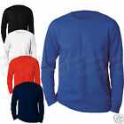 Kids Top Long Sleeve T Shirt  Plain 100% Cotton  2 3 4 5 6 7 8 9 10 1112 13