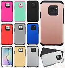 For Samsung Galaxy S7 Active HARD Hybrid Rubber Silicone Case +Screen Protector