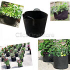 Round Fabric Pots Plant Pouch Root Container Grow Bag Container Black