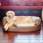 Integrity Bedding Luxury Orthopedic Memory Foam Leatherette Bolster Dog Bed