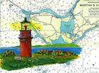 Gay Head Lighthouse Art Print Martha's Vineyard Island Aquinnah MA Nautical Ship