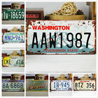 Vintage Decorative Metal Auto Car License Plate Great Bar Decor Tags Collectible