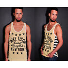 Roots of Fight Tyson Kid Dynamite Striped Tank Top - Yellow
