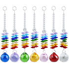 5 PCS Rainbow Crystal Ball Bead Chandelier Prism Hanging Drop Xmas Wedding Decor
