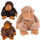 Soft Cuddly Furry Monkey Plush Toy Teddy Animal Kids Toys Xmas Gift Present New