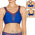 Freya Active Non Wired Soft Cup Multiway Crop Top Sports Bra Olympic Blue 4000
