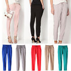 Chiffon Harem New Pants Womens Casual Sport Elastic Waist Drawstring Trousers