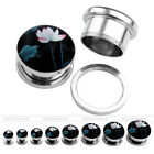 Gauges Water Nymph Steel Screw Tunnels Ear Stud Plug Punk Expander Stretcher