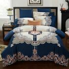 Oriental Floral Quilt/Doona Cover Set 100% Cotton Queen/King Size Duvet Covers