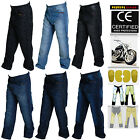 Men's Motorbike Denim Jeans Pants Reinforced with DuPont™ Kevlar® fiber