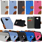 Canvas Diary Kickstand Flip Slim Leather Wallet Case Cover For Various Phone