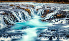 Home Decor prints oil painting Modern Wall Art canvas Water falls landscape X80