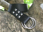 Germanic Studded Black Leather Belt Medieval Style