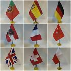 EUROPEAN Table Desk Top Flag - Uk England Germany Spain wales ....