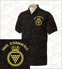 HMS CORNWALL Embroidered Polo Shirts
