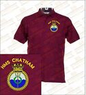 HMS CHATHAM Embroidered Polo Shirts
