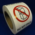 """Do Not Stack 3""""x4"""" - Packing Shipping Handling Warning Label Stickers"""