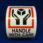 """Handle With Care 3""""x4"""" - Packing Shipping Handling Warning Label Stickers"""