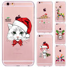 Festival Christmas Phone Cover Case For iPhone 7/7plus 6 6S Dog Deer AnimalCapas