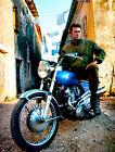 Clint Eastwood on Norton Commando S Motorcycle Photo Poster