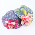 1X Kid Baby Toddler Girl Cotton Flower Hat Polka Dot Summer Bucket Sun Cap FM