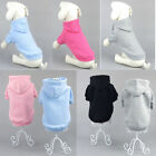 Winter Solid Dog Clothes Pet Puppy Warm Cotton Blend Hoodie Coat Sweatshirts Hot