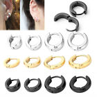 Pair Mens Womens Stainless Steel Hoop Ear Helix Hoop Earrings Huggies Piercing