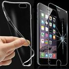 Tempered Glass Screen Protector & Clear TPU Case Cover For iPhone 7 /7 Plus Hot