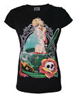 DARKSIDE TINKERBELL TINK POISON SKULL TATTOO BLACK T SHIRT 8 10 12 14 NEW
