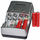 4x AAA 1800mAh 1.2V Ni-MH Rechargeable battery 3A RED+Charger