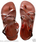 Camel Jesus Sandals Men Genuine Leather Greek Roman Shoes US 5-12 EU 36-46