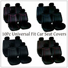 New Universal Fit Full Set Coloured 10Pc Airbag Friendly Nylon Car Seat Covers