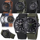 Hot Use Men's Date Canvas Stainless Steel Military Sport Quartz Wrist Watch New