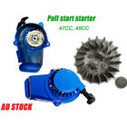 Alloy Pull Start Recoil Starter Flywheel 43 47cc 49cc Pocket Dirt Bike Mini ATV