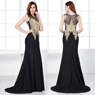 New Applique Women Long Formal Evening Prom Party Dress Bridesmaid Gown Cocktail