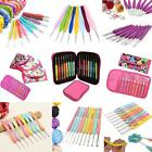 Aluminium Crochet Hook Knitting Needles Stitches With Colourful Soft Grip Handle
