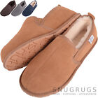 Mens / Gents Luxury Full Sheepskin Slipper Boots with Rubber Sole